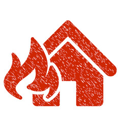 Fire damage grunge icon vector