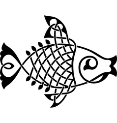Fish ornament vector