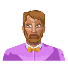 full bearded guy on white background vector image