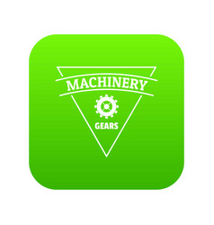 gear machinery icon green vector image