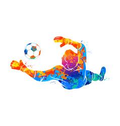 Goalkeeper ball abstract vector