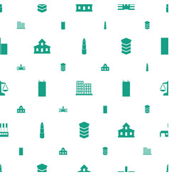 Government icons pattern seamless white background vector