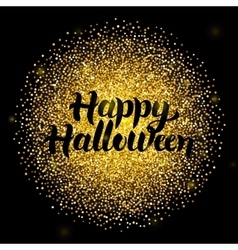 Halloween Lettering over Gold vector image