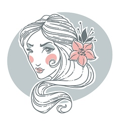 hand drawn beauty vector image