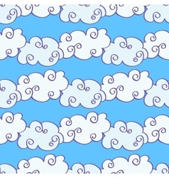 Hand drawn clouds over the blue sky vector