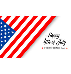 happy 4th july independence day vector image