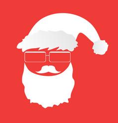 hipster-santa vector image