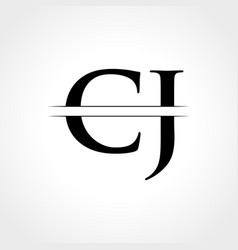 initial cj letter logo with creative modern vector image