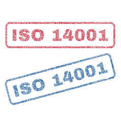 Iso 14001 textile stamps vector