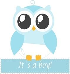 Its a boy owl vector