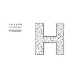 letter h low poly design alphabet abstract vector image