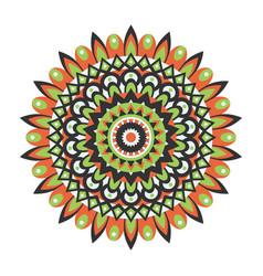 Mandala circular ornament vector