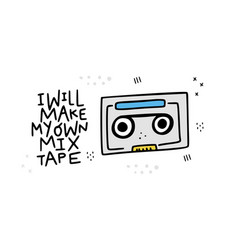 mix tape sticker vector image