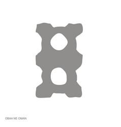 Monochrome icon with adinkra symbol obaa ne oman vector
