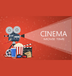 Movie cinema premiere poster design vector