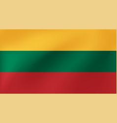 national flag lithunia for vector image