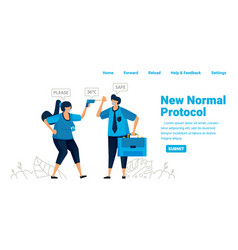 New normal pandemic protocol for work and travel vector