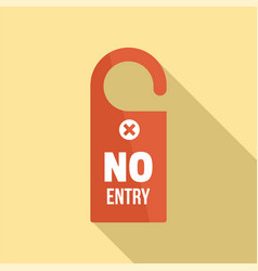 No entry door hanger icon flat style vector