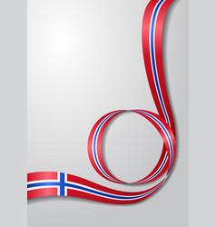 Norwegian flag wavy background vector