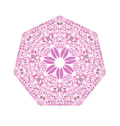 Ornate abstract colorful geometrical flower vector