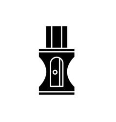 pencil sharpener black icon sign on vector image