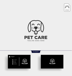 Pet animals care consulting logo template vector