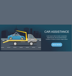 road assistance car evacuator vector image