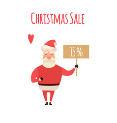 santa claus cartoon character holding christmas vector image