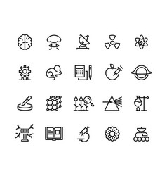 science line icons technology research medical vector image