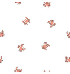 seamless pattern crabs vector image