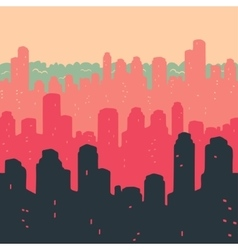 Seamless Pattern The City Buildings vector image