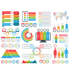 set infographic elements kit vector image