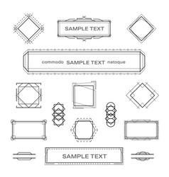 set vintage geometric frame design elements vector image