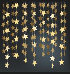 Shining golden stars backgrond vector