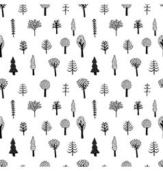 simple tree pattern vector image