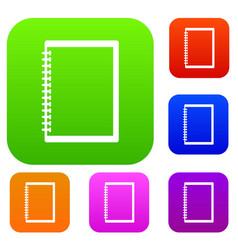 sketchbook set color collection vector image