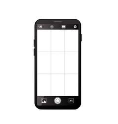 Smartphone camera viewfinder vector