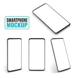 smartphone mockup modern frameless smartphones vector image