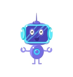 Smiling Robot With Dark Screen vector image
