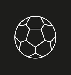 soccer ball icon on black background vector image