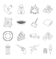Space war finance and other web icon in outline vector