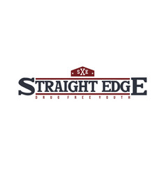 Straight edge badge label community campaign vector