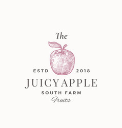 the juicy apple south farm fruits abstract vector image