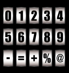 ticker counter vector image