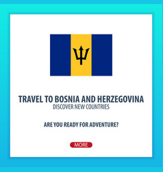 travel to bosnia and herzegovina discover and vector image