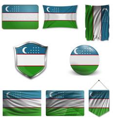 Uzbekistan flag background vector