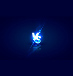 versus game cover banner sport vs team concept vector image