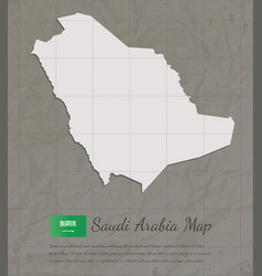 Vintage saudi arabia map paper card map vector