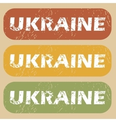 Vintage Ukraine stamp set vector
