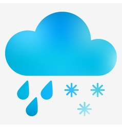 Weather flat style icon vector image